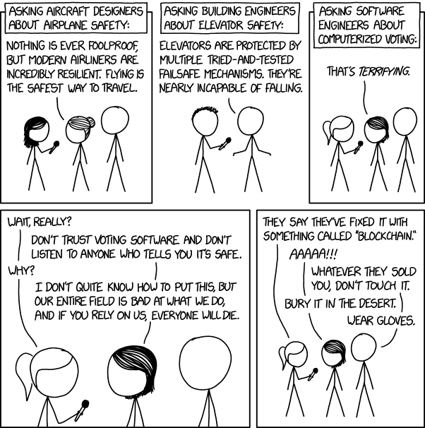 XKCD - web comic - Voting Software