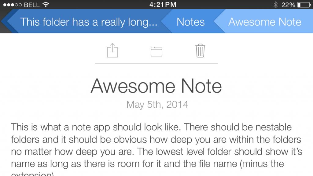 A note in a blue folder (landscape).